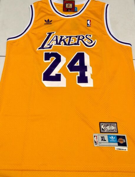 Los Angeles Lakers #24 KOBE BRYANT Gold Hardwood Classics Sewn Jersey Men's