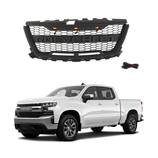 Grille Front Mesh For Chevrolet Colorado 2016 2019 Grey Grill W black Letters