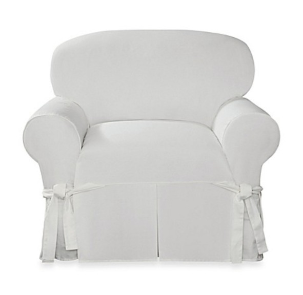 Sure Fit Essential Twill Straight Skirt One Piece Chair Slipcover $27.00