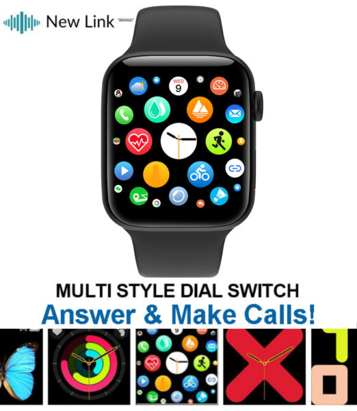 Smart Watch for iPhone iOS Android Phone Bluetooth Waterproof Fitness Tracker $29.99