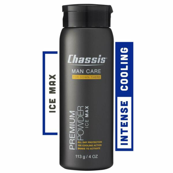 Chassis Premium Ice Max Talc-Free Body Powder  10x the Cooling Sensation  $19.95
