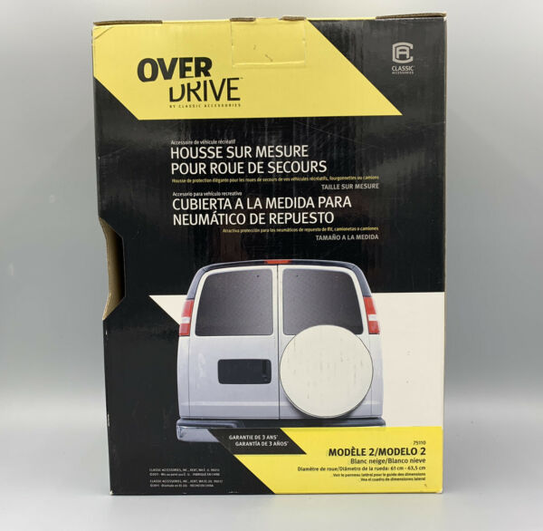 OverDrive Custom Fit Spare Tire Cover, White, 24