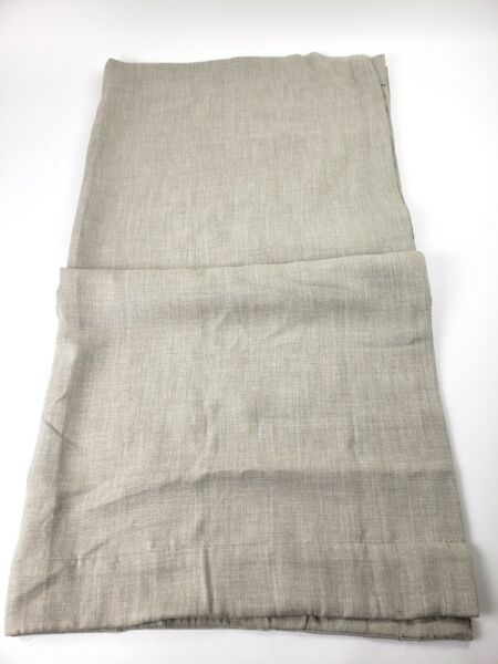Exclusive Faux Linen Blackout Room Darkening Curtain 50 X 120 Single Panel