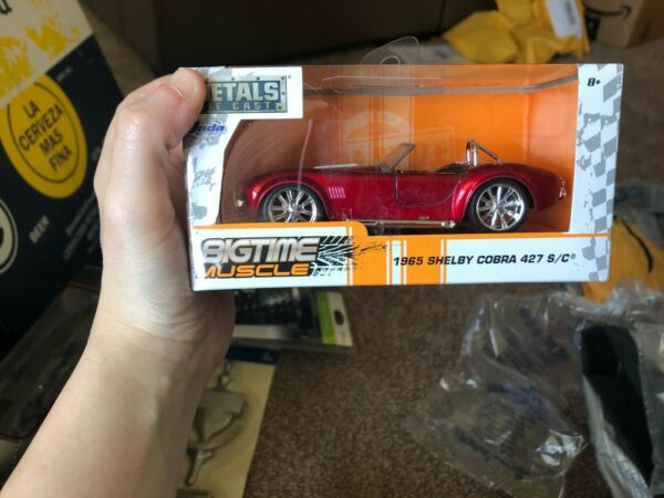 Jada Metals Die Cast Big Time Muscle 1965 Shelby Cobra 427 BRAND NEW IN BOX *B*