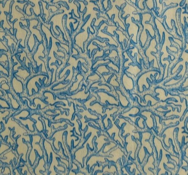 Moda Permanent Vacation 39 inch yard quilting collectible blue coral pattern
