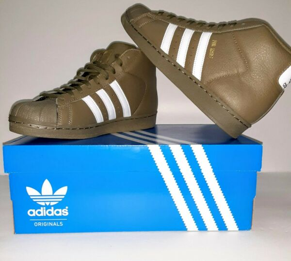 Adidas Originals Pro Model Mens Shoes Olive White Gold AC7067 Size 8