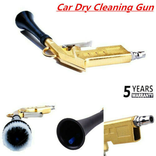 Car Dry Cleaning Gun Interior Spray Clean Brush Air Pulse High Pressure Tornado