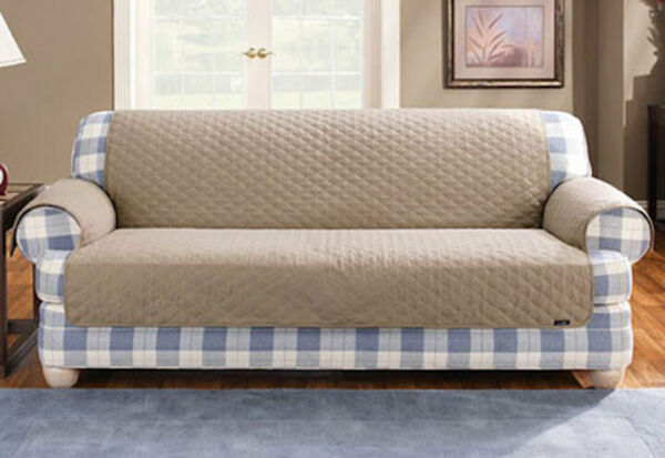 Sure Fit Sofa Ultimate Furniture Cover Cocoa Non slip backing $39.99