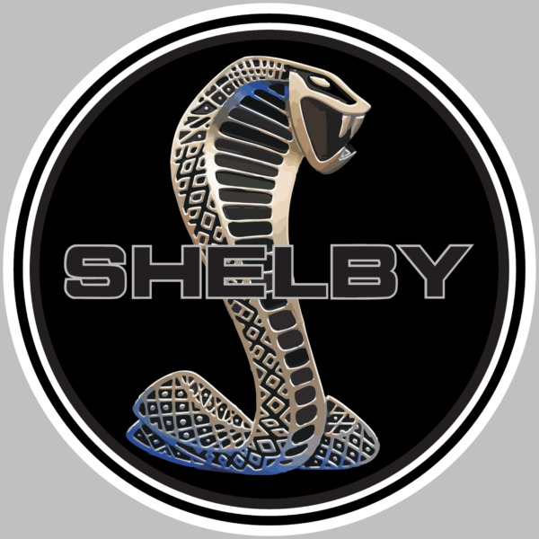 Shelby Cobra GT500 Logo Decal Sticker Choose Size 3M LAMINATED BUY 3 GET 1 FREE