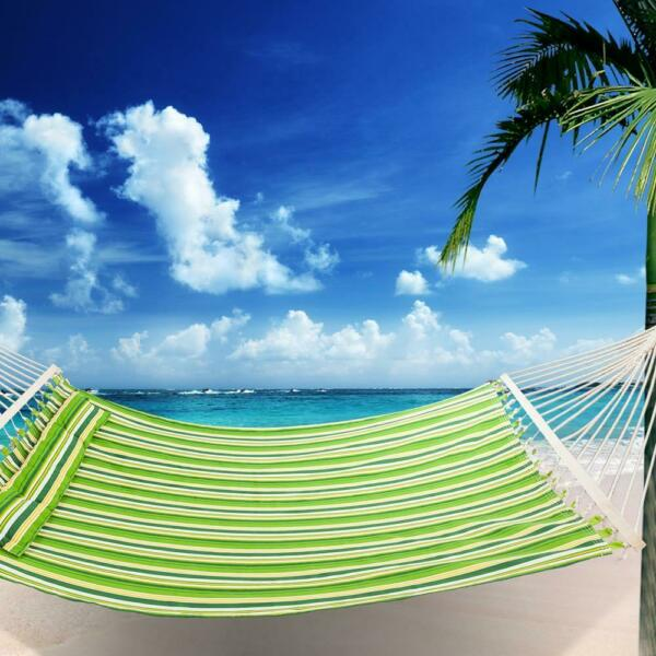 Hammock Fabric With Pillow Double Spreader Bar Heavy Duty Hammock US SHIP $29.95