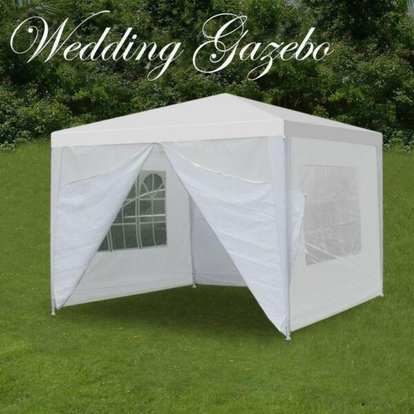 10#x27;x10#x27; Outdoor Canopy Tent Party Wedding Tent Pavilion Gazebo Event 4 Walls US