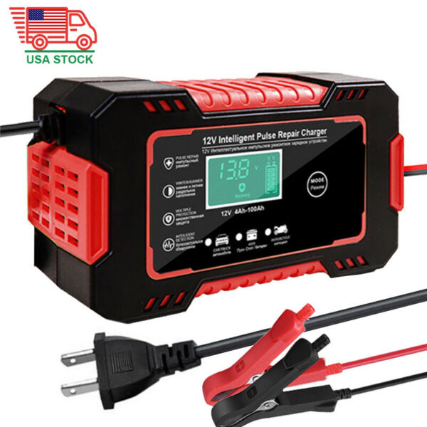 Car Battery Charger 12V 6A Full Automatic Smart Power Pulse Repair Maintainer US $23.99