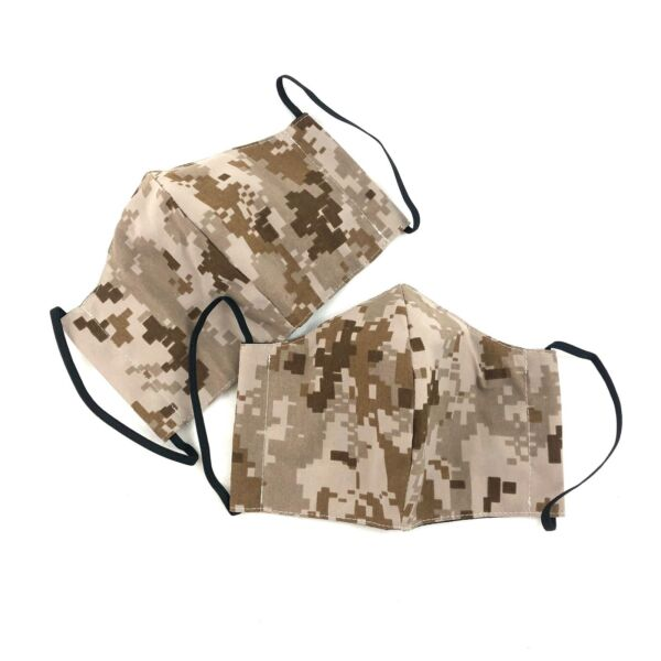 AOR1 Cloth Face Mask US Navy NWU MEDIUM Reusable Washable Camo Cover 2 PACK $17.99
