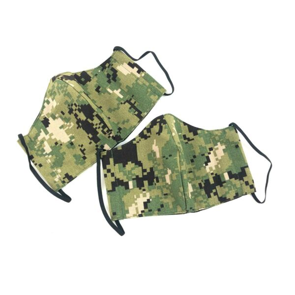 AOR2 Cloth Face Mask Navy NWU MEDIUM Reusable Washable Camo Cover 2 PACK $17.99