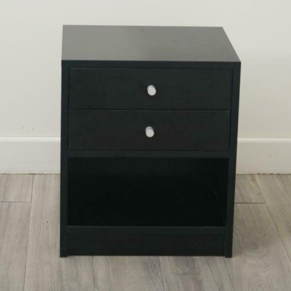 Sofa End Table Bedside Nightstand Bedroom Storage Cabinet Night Stand 2 Drawers