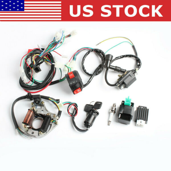 50cc 125cc CDI Wire Harness Stator Assembly Wiring Kit Chinese ATV Electric Quad $26.98