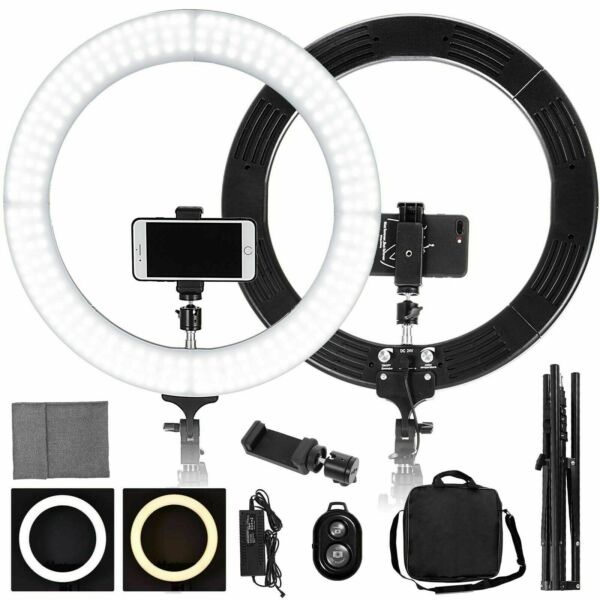 19quot; LED SMD Ring Light Kit with Stand Dimmable 5500K for Makeup Phone Camera