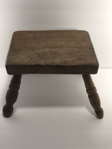 Rustic Little Wooden Stool Made From Reclaimed Material. $25.00