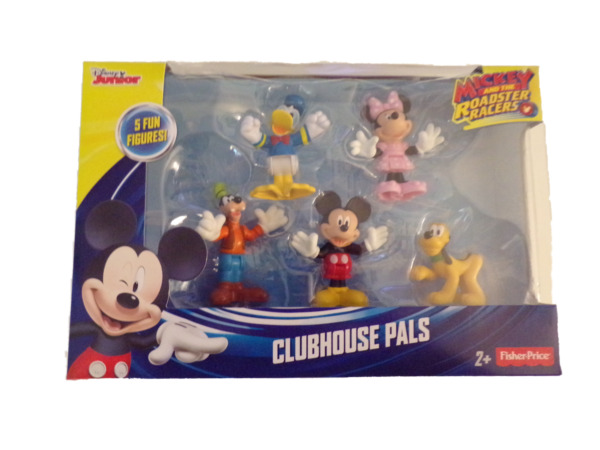 Mickey Mouse Clubhouse Pals 5 Figures Disney Jr Mickey and the Roadster Racers