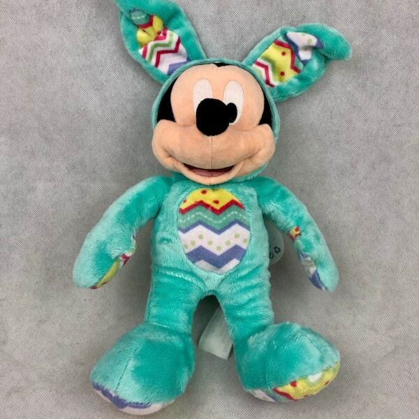 Disney Store Exclusive 2015 Mickey Mouse Bunny Ears Plush Toy Green NWT New