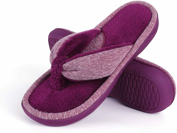 Wishcotton Women's Adjustable Memory Foam Flip Flop Slippers Cozy Lightweight Op $38.75