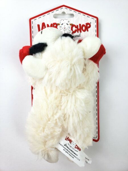 Multipet International Lambchop Plush Squeak Toy Mini for Pets 6-Inch [2-Pack] $3.79