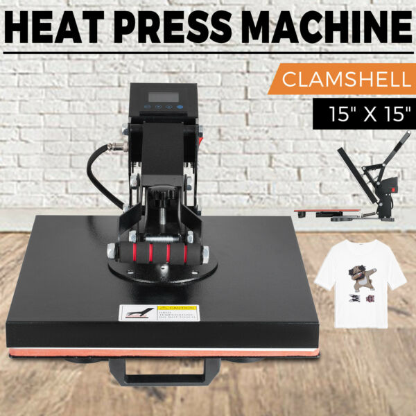 15quot; x 15quot; Clamshell Heat Press Machine DIY T shirt Sublimation Digital Transfer $142.90
