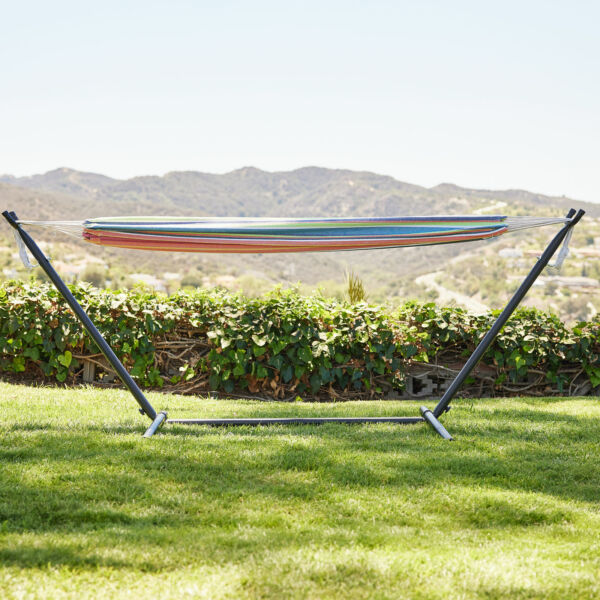 Portable 2 Person Hammock Stand Outdoor Patio Camping Beach Double Carrying Bag $79.99