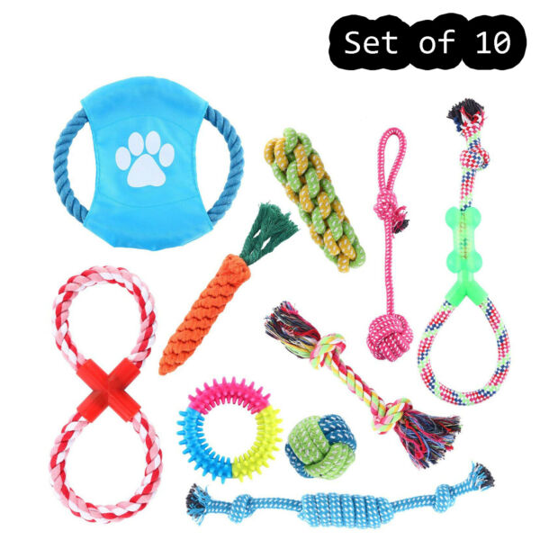 Dog Rope Toys for Small Medium Large Dog Chew Toys for Puppy 10 Pack Durable $13.69