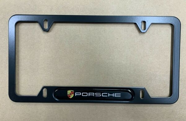 (1) for Porsche Metal License Plate Frame New Car 911 Cayenne FREE SHIPPING NEW