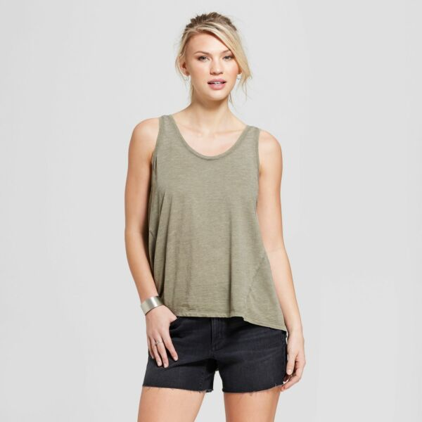 NWOT Womens Olive Green Tank Top Large Universal Thread Fast Free Shipping $9.99