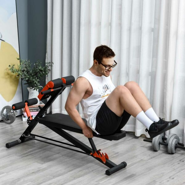 Adjustable Hyper Extension Roman Chair Dumbbell Weight Ab Multifunction Workout $89.99
