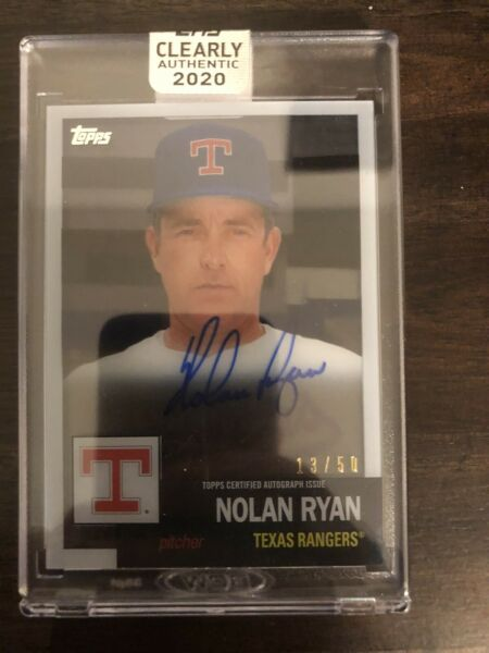 NOLAN RYAN 2020 Topps Clearly Authentic 1952 AUTO AUTOGRAPH 1350 Texans RA-NR