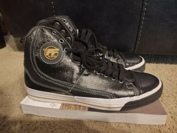 Rare PF Flyers Glide High Top Sneakers Black Mens size 11.5
