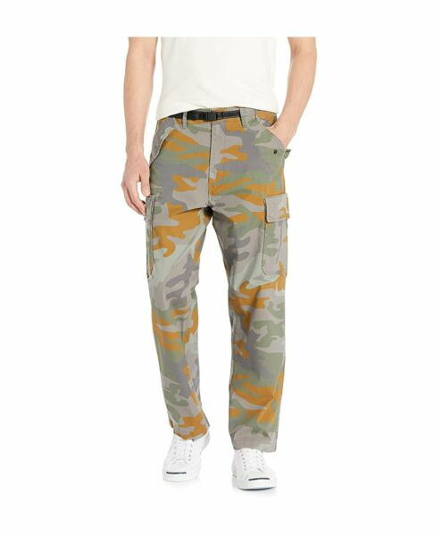Levis 502 Regular Taper Banded Military Cargo Pants Camo