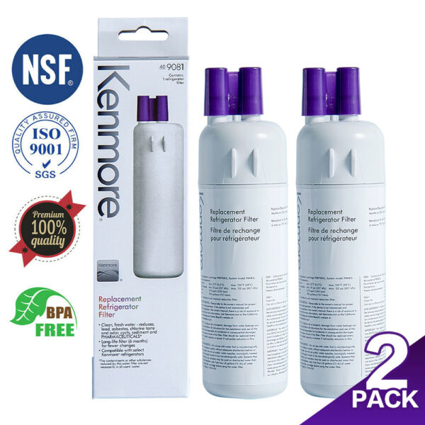 2 Packs Kenmore 469081 Replacement 46 9930 Refrigerator Ice amp; Water Filter New