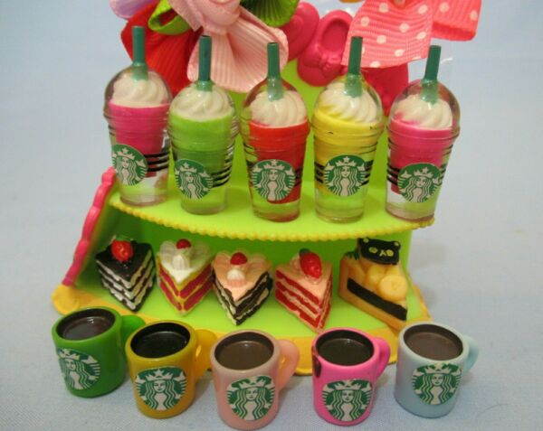 Littlest Pet Shop Random Lot 7 Starbucks Coffee Cake Sweets Accessories $7.93