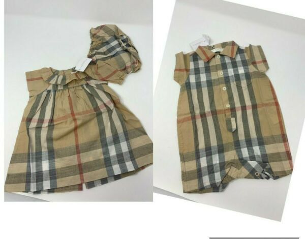 NWT NEW Burberry  baby girl boy short jumper toddler 1m to 12m