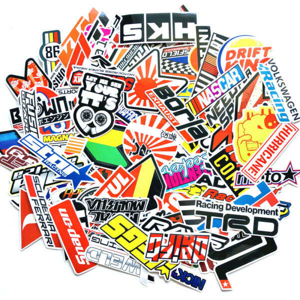100Pcs motocross racing stickers for racing car helmet skateboard bicycle laptop