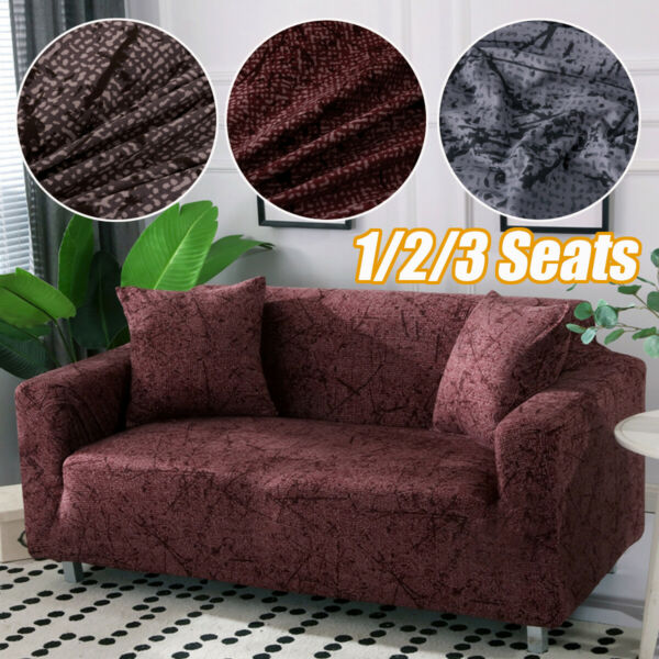 1 2 3 Seats Stretch Spandex Chair Sofa Couch Cover Elastic Slipcovers For $25.18