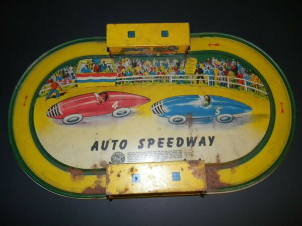 Vintage * Auto Speedway Race track....Automatic Toy Co. $59.99