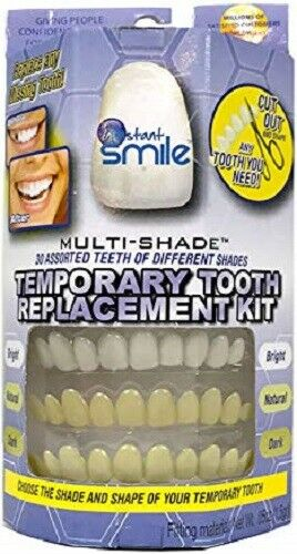 INSTANT SMILE TEETH REPLACEMENT KIT Easy temporary tooth fix MULTI SHADE SETS $19.95