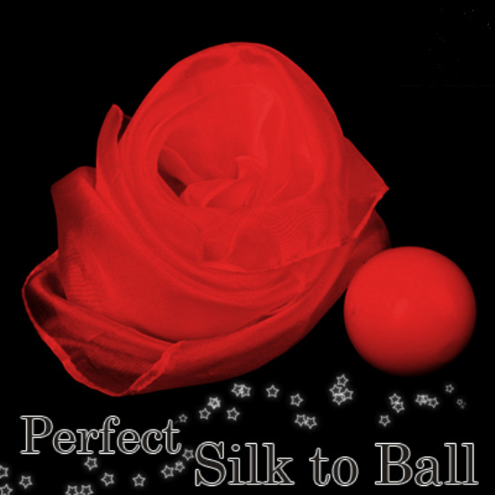 AUTOMATIC SILK TO 1-34 inch RED BALL MAGIC TRICK INSTRUCTIONS + ONLINE TUTORIAL $39.95