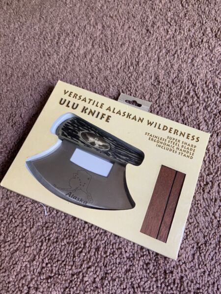 ULU Knife. Alaskan Made. New Ergonomic Handle Stainless Steel Blade
