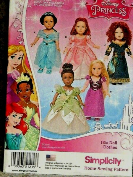 Uncut Simplicity 1219 Doll Clothes Pattern for 18