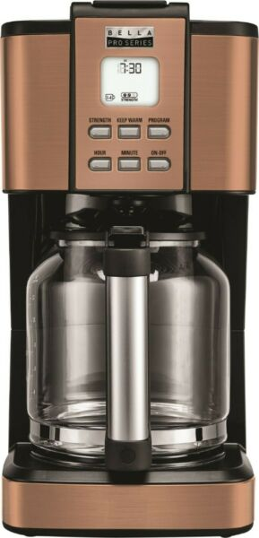 Programmable Coffee Maker 14 Cup LCD Display Pro Series Coffee Maker Copper
