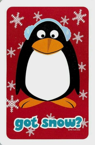 Penguin in Snow Single Swap Playing Card 1 card