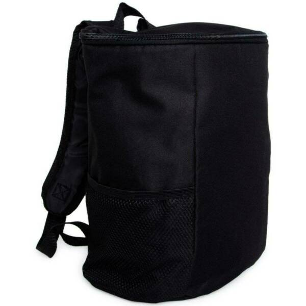 NEW Cooler Backpack With 12 Can Capacity BLACK With Adjustable Straps Carry Bag