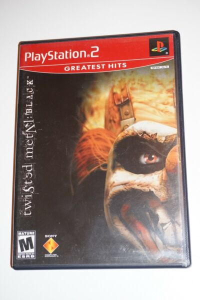 Twisted Metal Black GH Sony Playstation 2 ps2 w Case
