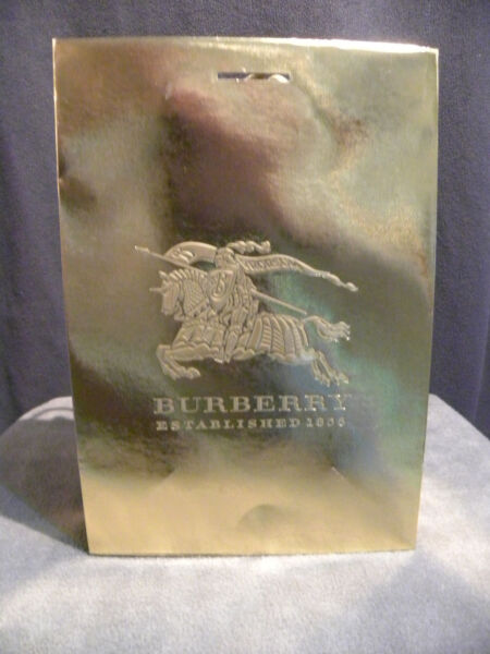 Burberry Gift Shopping Bag Gold Medium Size 11.75quot; x 8quot; x 4.5quot; Lot of 10 Bags $25.00